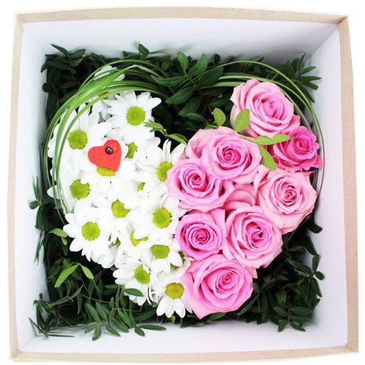 Композиция Моей половинке: букеты цветов на заказ Flowwow