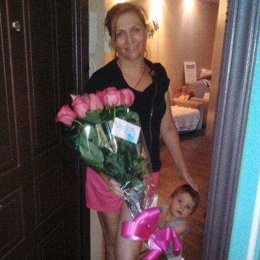 Букет 9 высокие голландские розы: букеты цветов на заказ Flowwow