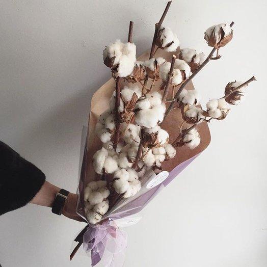 Зимний букет из хлопка: букеты цветов на заказ Flowwow