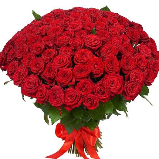 101 роза вечная классика !: букеты цветов на заказ Flowwow
