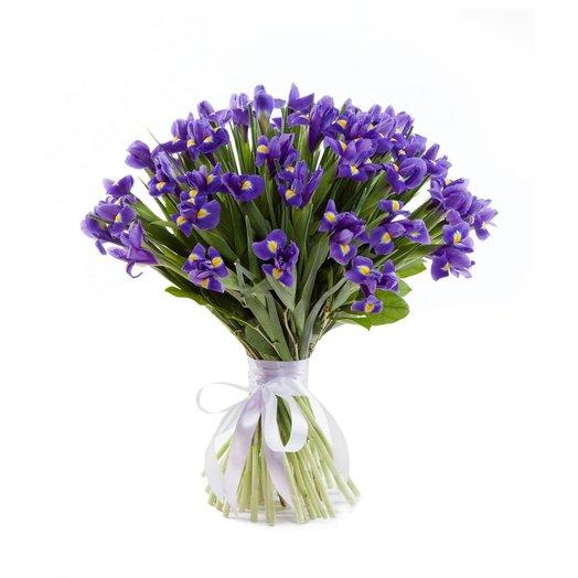 Букет ирисов Лазурь: букеты цветов на заказ Flowwow