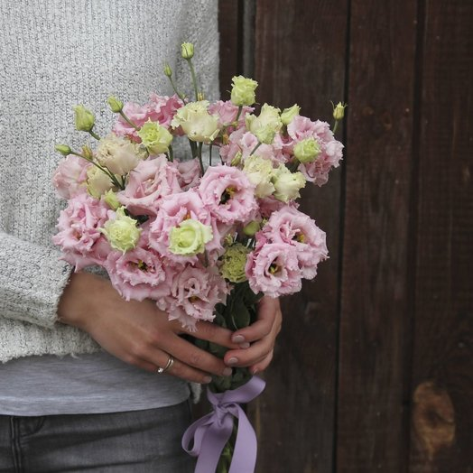 Bouquet of pink eustoma: flowers to order Flowwow
