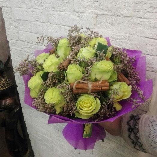 БУКЕТ ИЗ ЗЕЛЕНОЙ РОЗЫ: букеты цветов на заказ Flowwow