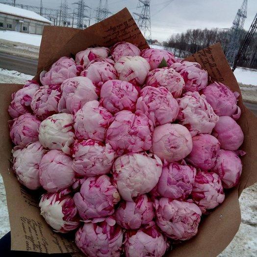 Розовые пионы Сара: букеты цветов на заказ Flowwow
