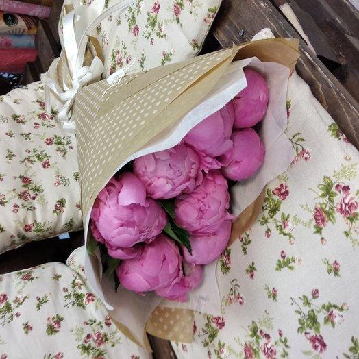 9 розовых пионов: букеты цветов на заказ Flowwow