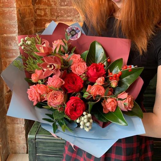 Букет Гранатовый ликер: букеты цветов на заказ Flowwow