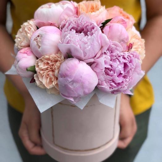 """Цветочная композиция """"Пионовая страсть"""": букеты цветов на заказ Flowwow"""