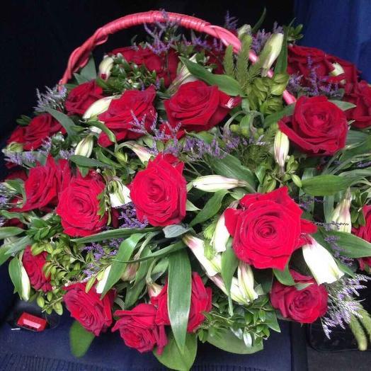 Корзина 007: букеты цветов на заказ Flowwow