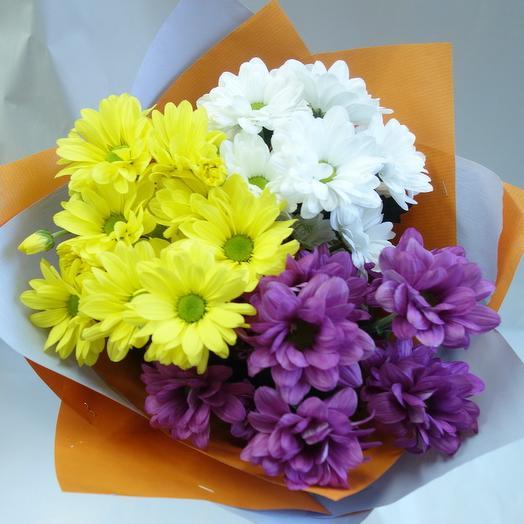 Мини букет из хризантем: букеты цветов на заказ Flowwow
