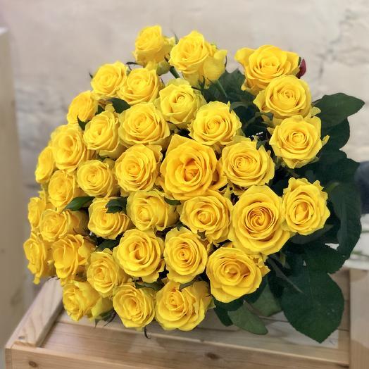 Букет из желтых роз: букеты цветов на заказ Flowwow