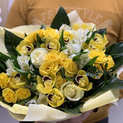 Золотая лихорадка: букеты цветов на заказ Flowwow