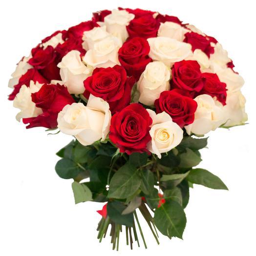 """Букет из 55 роз """"Донна Роза"""": букеты цветов на заказ Flowwow"""