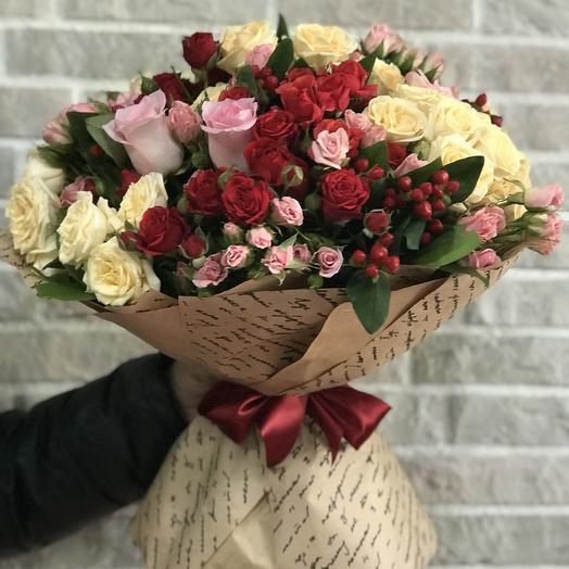 Клубнично- малиновое настроение: букеты цветов на заказ Flowwow
