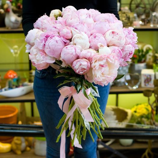 """Букет пионов """"Розовые пионы"""": букеты цветов на заказ Flowwow"""