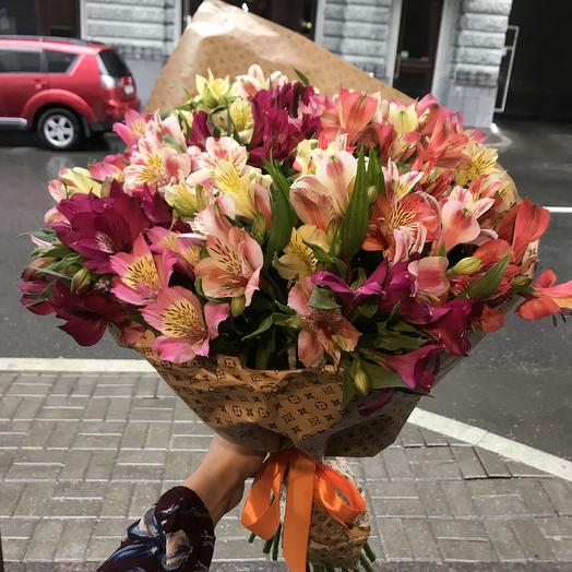 Яркая альстромерия для Вашей принцессы: букеты цветов на заказ Flowwow