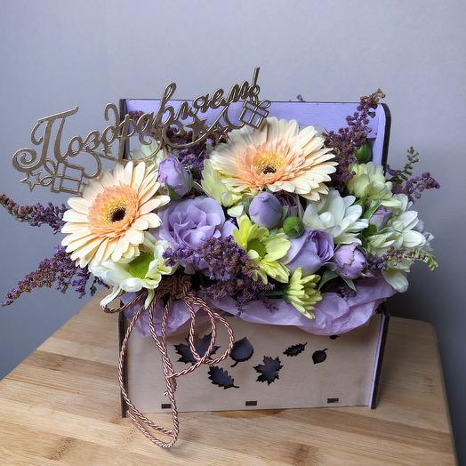 Праздничный ящик: букеты цветов на заказ Flowwow
