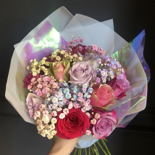 Радужный Кенийский микс💕: букеты цветов на заказ Flowwow