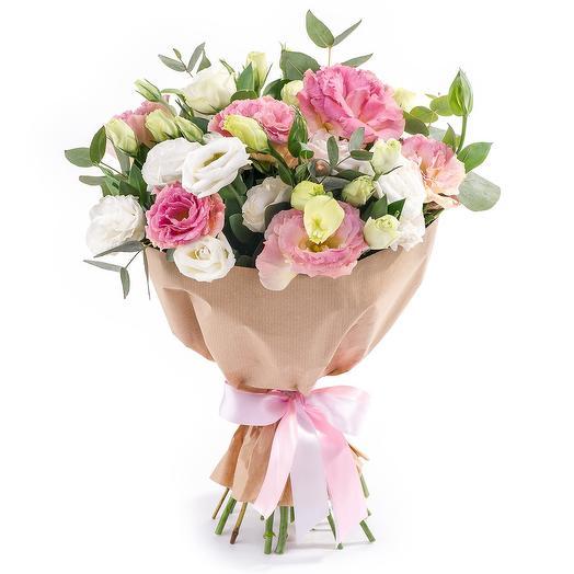 """Букет из эустомы """"Розалинда"""": букеты цветов на заказ Flowwow"""