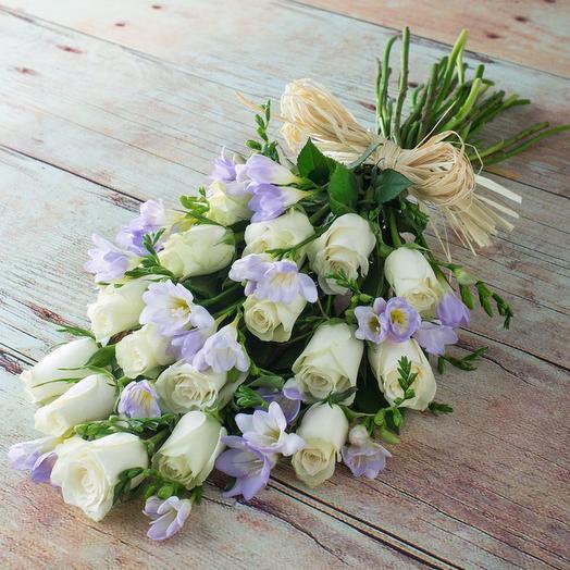 """Букет """"Крафтовые фрезии"""": букеты цветов на заказ Flowwow"""