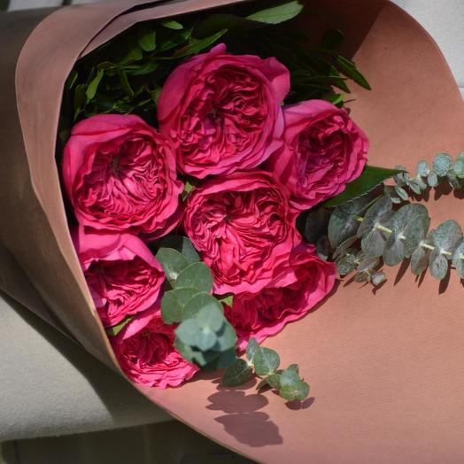 "Букет пионовидных роз ""Баронесса"": букеты цветов на заказ Flowwow"