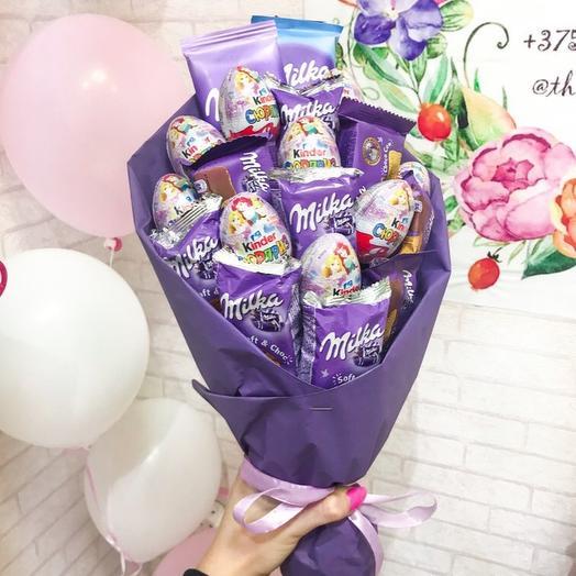 Букет «Фиолетовое счастье »: букеты цветов на заказ Flowwow