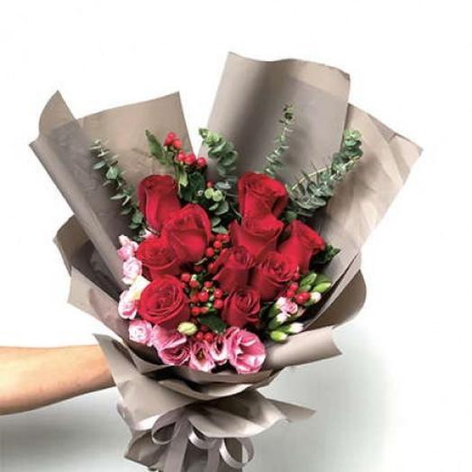 """БУКЕТ НА ДЕНЬ ВЛЮБЛЕННЫХ """"МОЕ СЕРДЦЕ"""": букеты цветов на заказ Flowwow"""