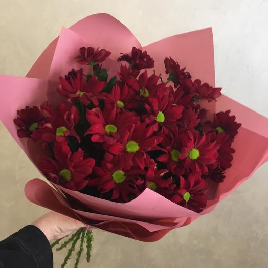 Букет красных хризантем: букеты цветов на заказ Flowwow