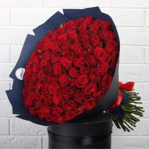Букет 101 Красная Роза: букеты цветов на заказ Flowwow
