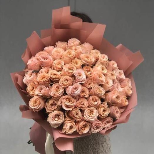 """Букет из роз """"Запеченная пудра"""""""