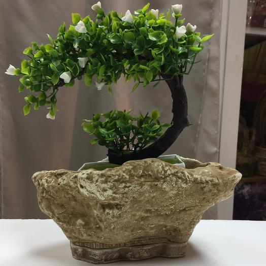 Горшок с поддоном Камень