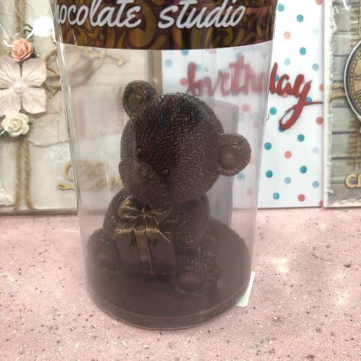 Мишка с подарком из бельгийского шоколада