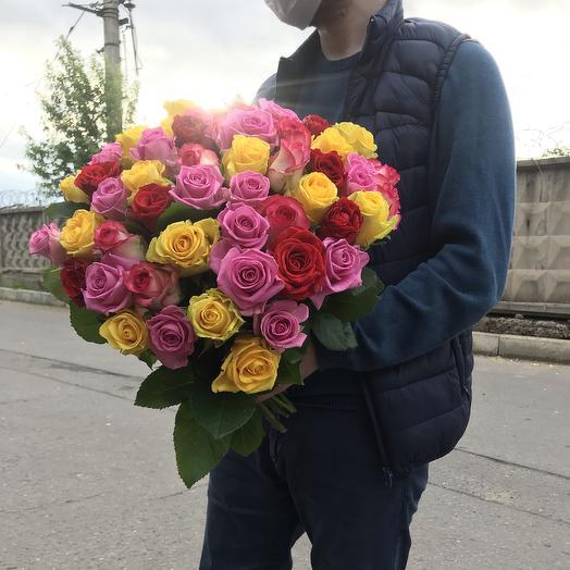 Роза микс 55 шт