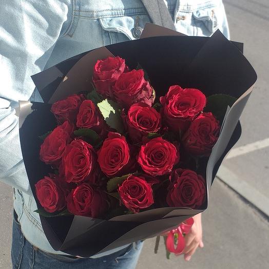 15 красные роза