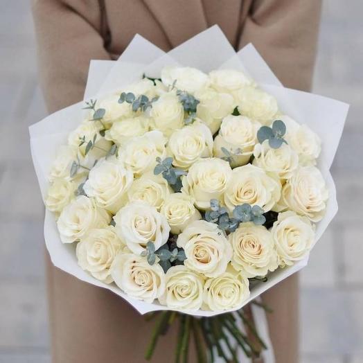 Букет «Розочки белоснежные»