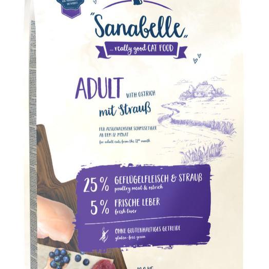 Sanabelle Adult со страусом сухой корм для кошек 10 кг
