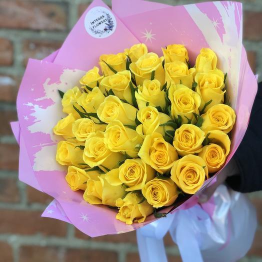 Букет из 31 желтой розы