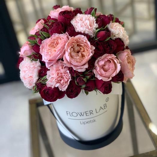 Цветы в коробке Торжество