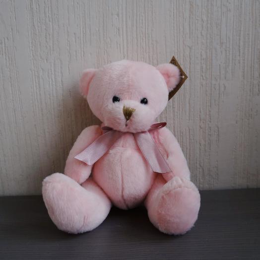 Мишка мягкий розовый