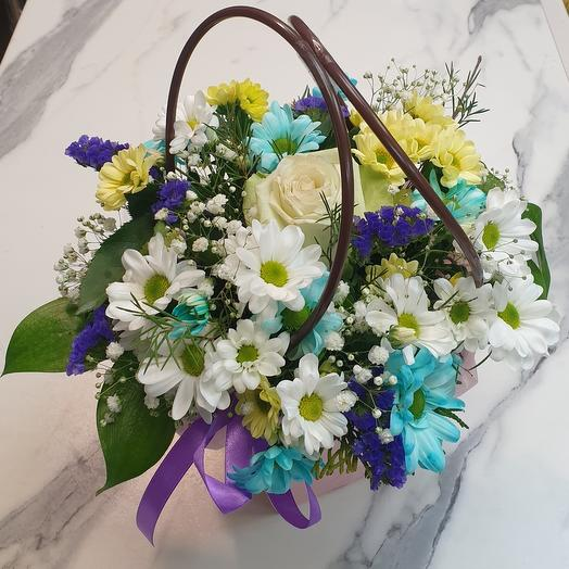 Коробка цветочки