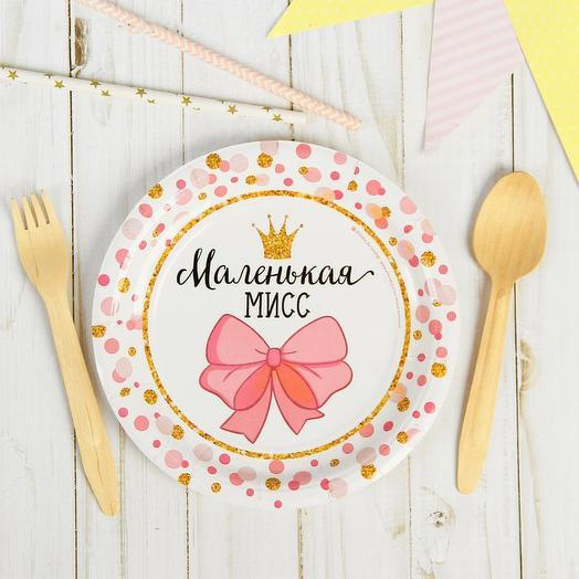 Тарелка бумажная «Маленькая Мисс», 18 см, 10шт
