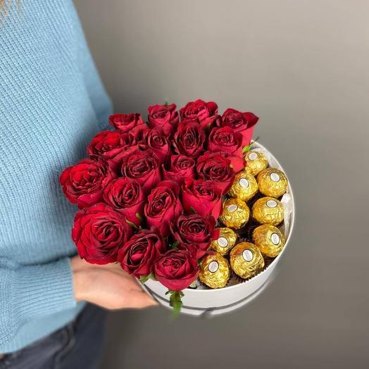 Цветы в коробке 6641