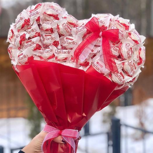 Объемное конфетное сердце