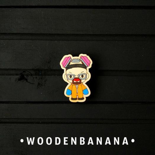 "Брошь BananaWood ""Хайзинберг"""