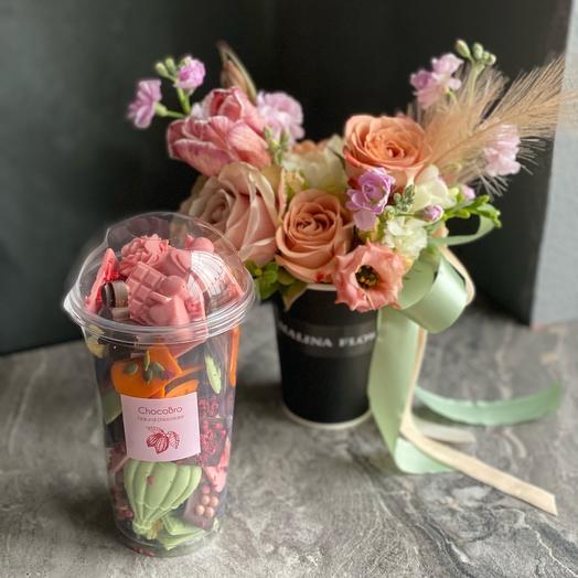 Набор «цветы+шоколад»