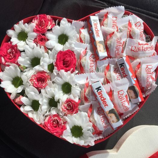 Цветы в коробке 0777