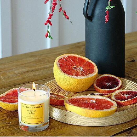 Соевая арома свеча Грейпфрут , 200 мл
