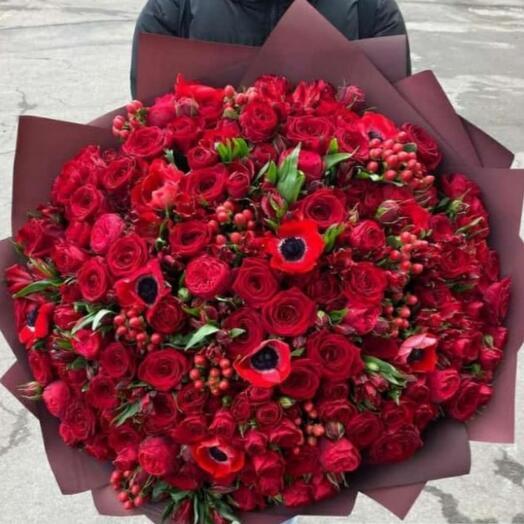 Букет сборный цветов 3