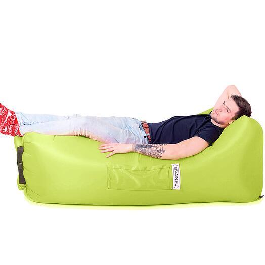 Надувной диван БИВАН 2.0 (BVN17-ORGNL-LME), цвет лимонный (Горький лимон)