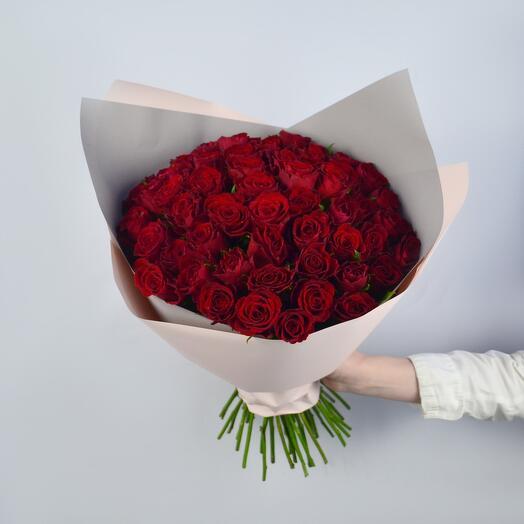 Букет из 51 розы (Кения) 40см