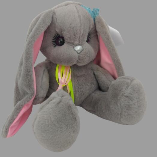 Заяц 50 см «Люнет» Длинные Ушки Серый